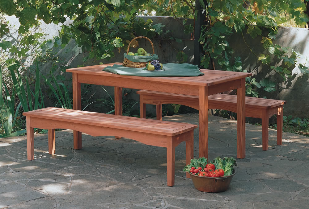 Kentfield Dining Table and Benches